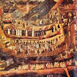 Mártires de Nagasaki. pintura japonesa sec XVI-XVII